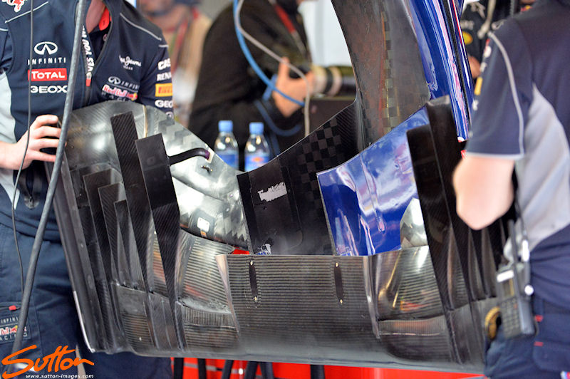 Red Bull Racing RB9 front wing. Formula One World Championship, Rd5, Spanish Grand Prix, Practice, Barcelona, Spain, Friday 10 May 2013.